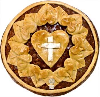 Reformationstag, Lutherrose, gebacken, Schaugebaeck, Gebildebrot, Brot, Raymund Hinkel, Suitbertus